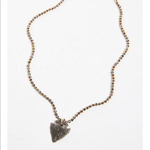 Free people crystal amulet pendant necklace